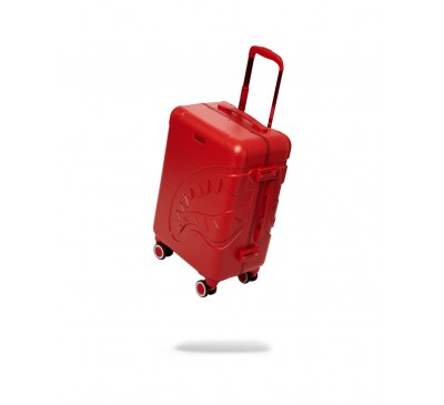 22'' RED MOLDED SHARKMOUTH CARRY-ON LUGGAGE