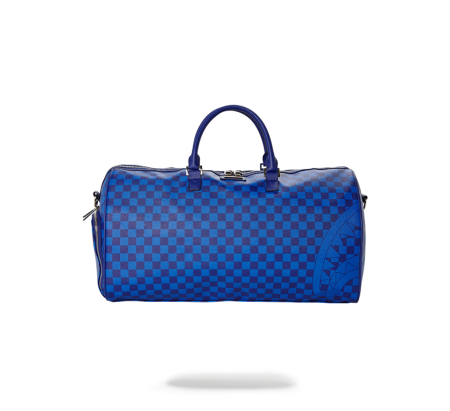 BLUE CHECKERED SHARK DUFFLE
