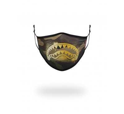 CAMO GOLD SHARK FACE COVERING